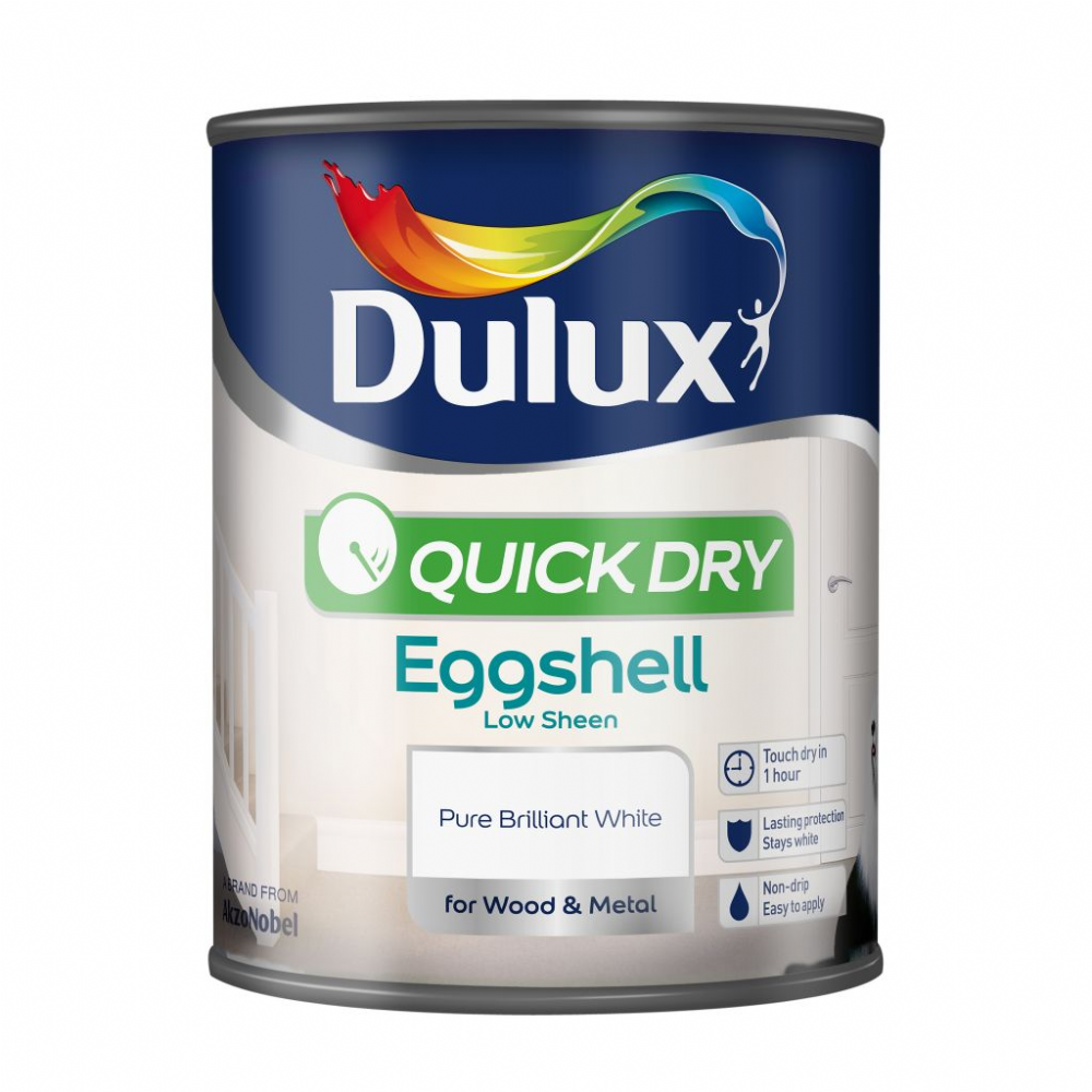 Dulux Quick Dry Eggshell Pure Brilliant White